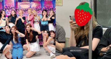 搭地鐵「滑手機長髮妹」皺眉也超仙!網激動認出 是「JYP女團成員」!