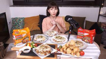 肚子餓不要看!大胃王「路路」結合營多麵創意料理再次挑戰ASMR