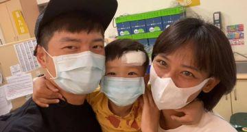 宥勝3歲兒子頭破血流!「母子滿身血」急送醫 醫生靠一招免「全麻」:上了一課!