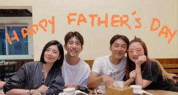 賈靜雯、陶晶瑩夫婦「合體」慶祝父親節!感謝「修杰楷每天1打3」 兩家同框場面溫馨