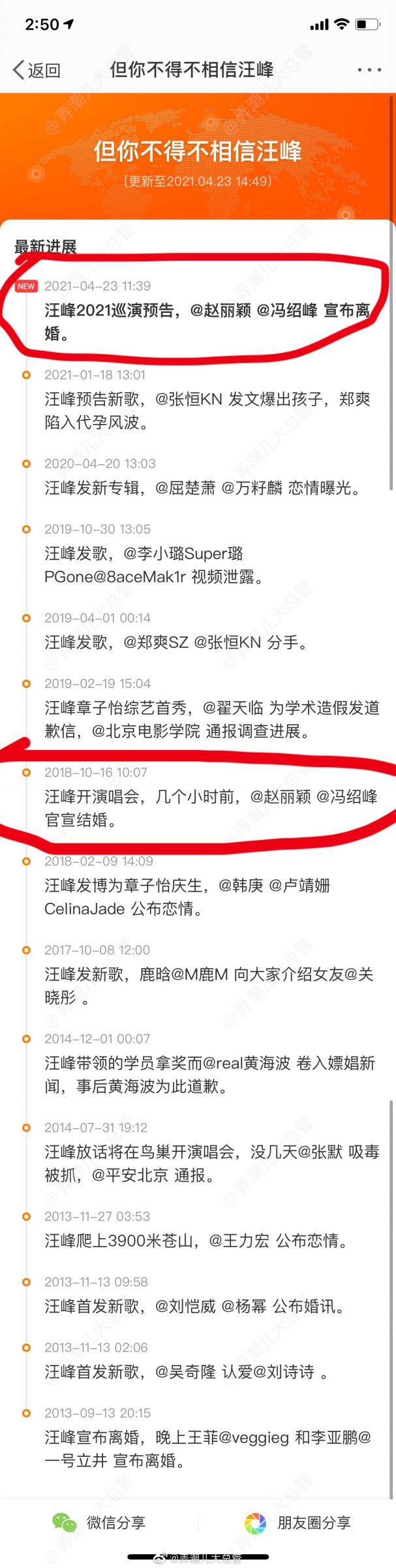 預言趙麗穎離婚!「汪峰定律」28次封神 網:不相信愛情,但要相信他