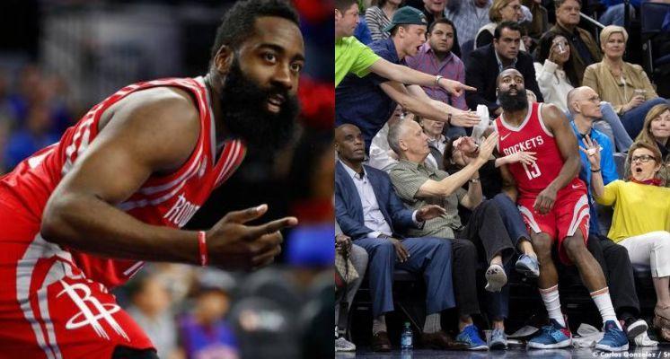 哈登跌入 NBA 觀眾席的瞬間一刻 被網友瘋狂惡搞成歷史名畫!