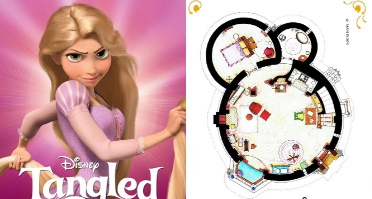 長髮公主被囚禁的高塔房間配置是如何?強大設計師繪出各大電影、影集的住處平面圖!