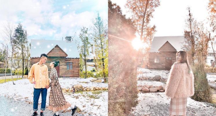 拍起來比ELSA還夢幻!宛如置身北歐的白雪小木屋,不用出國也拍得到!
