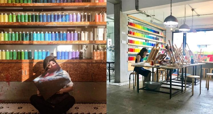 專為有藝術氣息的你所打造!台中文青咖啡廳「CMYK GALLERY」讓你邊畫畫邊用餐~還有店貓陪著你喲