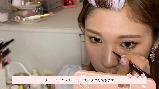 日本「蠟黃普妹」靠化妝變身Twice成員!萌樣曝光:眼睛變超大
