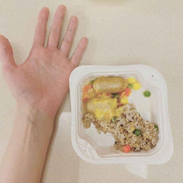 碗裡全是三色豆!泫雅公開一餐分量:比手掌還小