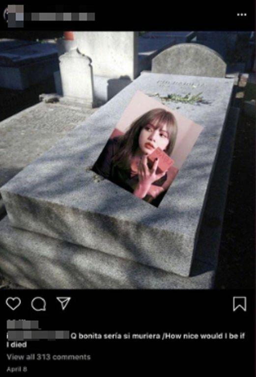 被P在墓碑上!Lisa收死亡威脅「會在回歸舞台下手」:IU也成目標