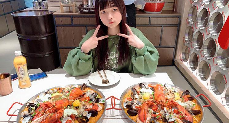 一次吃200個扇貝!正妹大胃王「薪水只有一萬二」:氣到不幹
